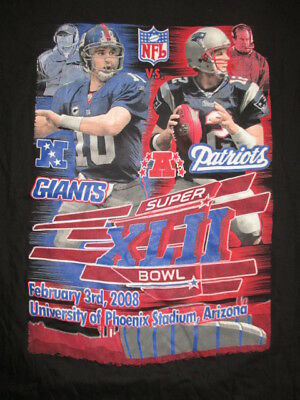 NY GIANTS vs NEW ENGLAND PATRIOTS SB XLII LG Shirt TOM COUGHLIN v BILL BELICHECK