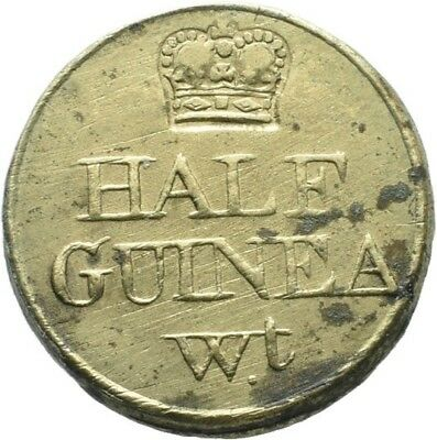 LANZ Great Britain Half Guinea 1775 Coin Weight Brass Messing :MA1681