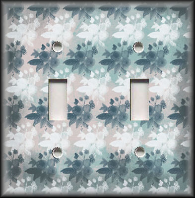 Metal Light Switch Plate Cover Pink Grey Blue White Vintage Shabby Chic Decor
