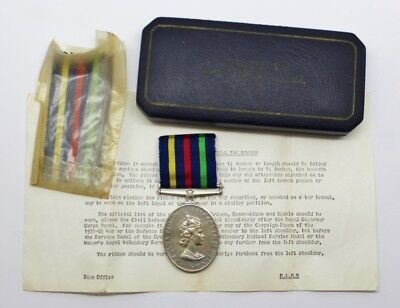 Civil Defence Long Service Medal in Box of Issue #16