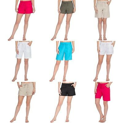 NEW Ladies Casual Summer Beach Shorts with Short and Knee Length Linen & Viscose