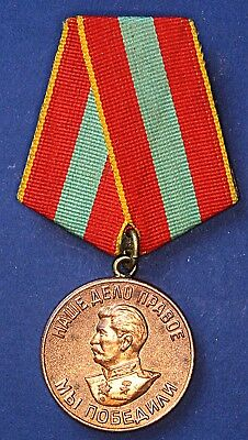 Medal For Valiant Labour during the Great Patriotic War 1941-45 Stalin *[13502]