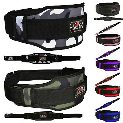 Weight Lifting Belt Neoprene Gym Fitness Workout Double Support Brace (BLACK, XL