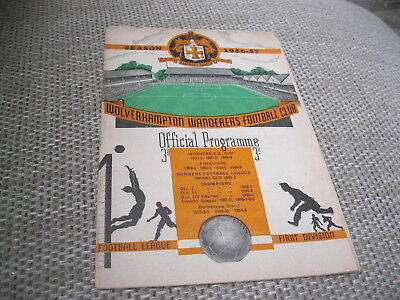 WOLVERHAMPTON WANDERERS v SWANSEA TOWN 5/1/57,  FA CUP 3 RD RD - SIGNED BY BERT