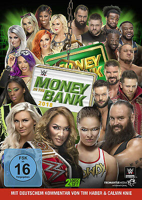 WWE Money In The Bank 2018 2x DVD DEUTSCHE VERKAUFSVERSION