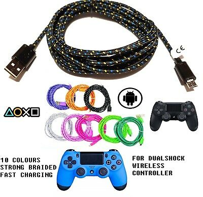 3M Micro Usb Charger Cable Fits Ps4 Dualshock 4 Wireless Controller Sony Charge