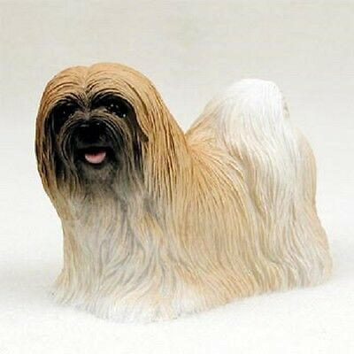 LHASA APSO Dog FIGURINE brown puppy HAND PAINTED COLLECTIBLE Resin Statue NEW
