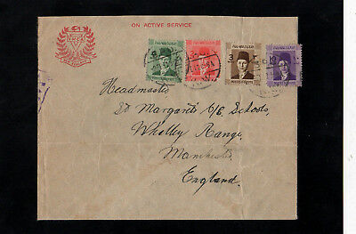 Egypt 1941 - Active Service - New Zealand Ymca Censored Cover - With B.p.o. Cds