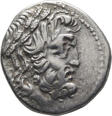 Lanz Epeiros Federal Coinage Drachm Zeus Eagle Wreath Greek Silver §cct486