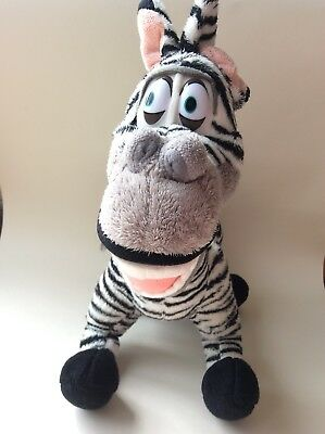 Marty The Zebra Madagascar Soft Toy Plush 17 Inch High Excellent Condition