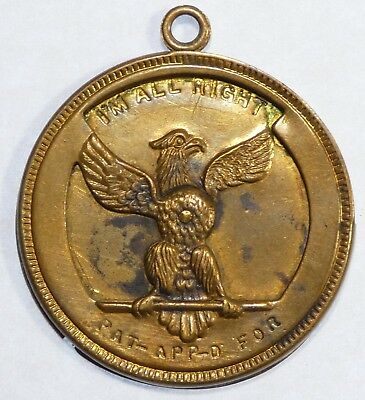 "1896 Mechanical BRYAN ""Dollar"" or Medal  VERY FINE some staining but STILL works"