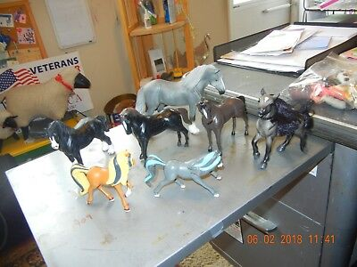 Herd of Hard Plastic Horses collection Breyer Schleich others