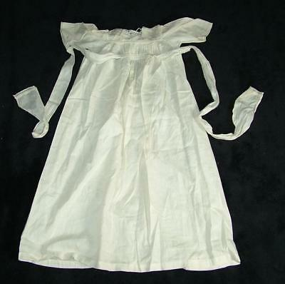 "Antique 23"" Long Real Fine Silk Christening Gown / Dress"