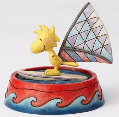 Jim Shore Peanuts Catch A Wave Woodstock Windsurfing Figurine 4055656 New
