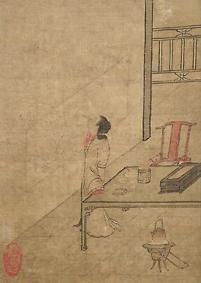 Fine Provenance Chinese Painting of Beauty - Late 18th - Early 19th Century