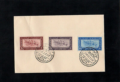 Egypt - 1938 - International Leprosy Congress - First Day Cover - With Cairo Cds