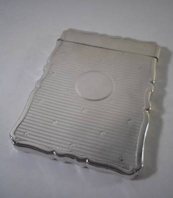 An Antique Arts & Crafts Style Solid Silver Card Case : Chester 1903