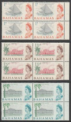 Bahamas, 1965 SB4 Stamp Booklet Panes. Stapled on RIGHT. SCARCE
