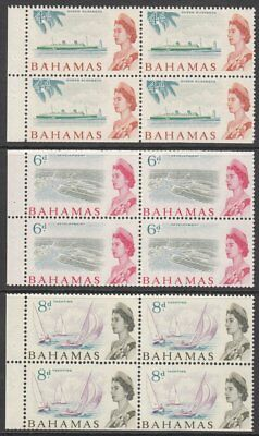 Bahamas, 1965 SB5 Stamp Booklet Panes. Stapled on LEFT