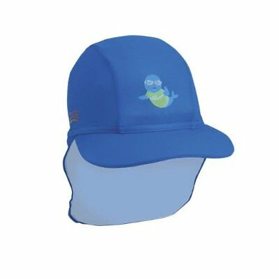 Zoggs Boys Hat with Sun Protection UPF50+ from Harmful Rays - Blue, Above 6 Year