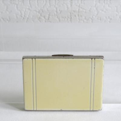 Vintage Art Deco Cigarette/Card Case - Cream Painted Enamel