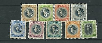Barbados GV 1920 Victory set to 1/- mint (1d used) (SG201/209) Cat. value £45.00