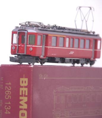 BEMO 1265 134 HOm TT - SWISS RhB RED ABe 4/4 ELECTRIC RAILCAR LOCOMOTIVE No.504