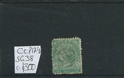 Bahamas QV 1865 1/-  sound to good used (SG38) Cat. £300