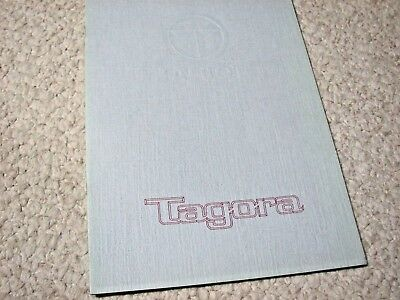 1981 Talbot Tagora (Uk) Prestige Sales Brochure..