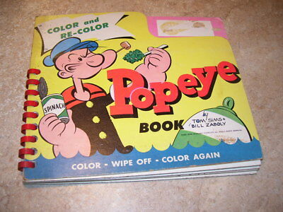 Vintage 1957 King Features Syndicate Popeye Child's Coloring Book RARE