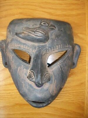 African 3D Clay Mask Decorative Wall Hanging