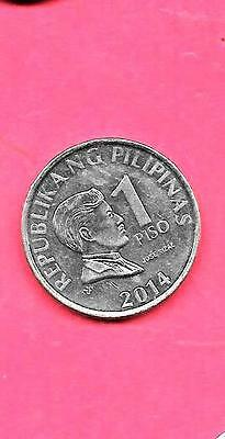 PHILIPPINES KM269a UNC-MINT NEW-UNCIRCULATED 2014 PISO EXCELLENT LARGE COIN