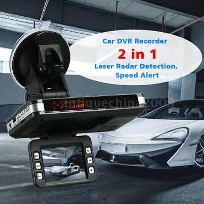2 in 1 720P Anti Radar Detector Car DVR Dash Cam Radar Speed Detector