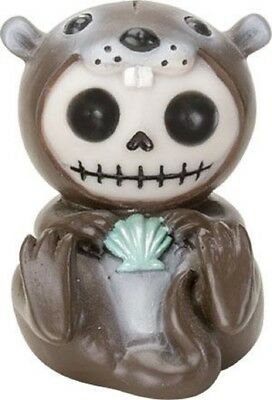 Furrybones Otto Skeleton Dressed in Otter Costume with Shell Halloween Figurine