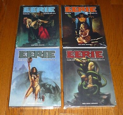 Lot of 4 Eerie Archives Volumes 7,8,9,10 SEALED, Warren, Dark Horse, hardcovers