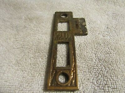 Antique Victorian Decorative Fancy Ornate Cast Iron Door Lock End Plate 1880s