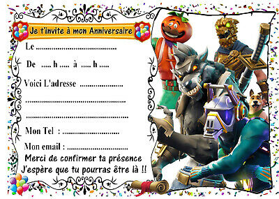 Carte Anniversaire Fortnite Gratuite A Imprimer | Fortnite In Mobile Sign Up