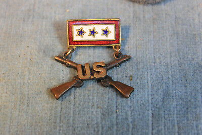 Wwii Us Infantry 3 Blue Enamel Star Crossed Guns Sons In Service Mothers Pin