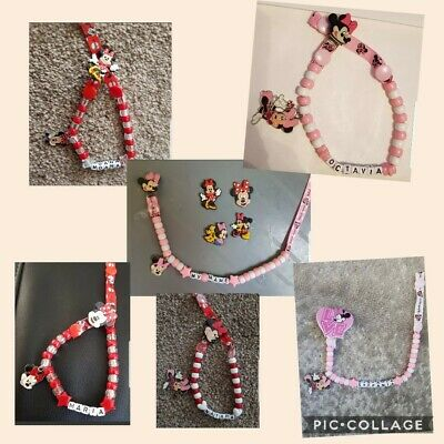 **minnie Mouse** Personalised Dummy Clip  *free Mam Ring* Read Full Description!