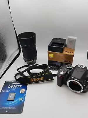 PRE-OWNED Nikon D3300 Digital SLR with 24.2 MP W/ 18-55mm Lens BUNDLE STUDENT