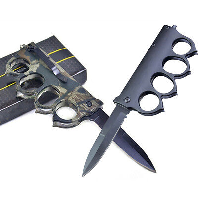 Camouflage Tactical Folding Knife Portable Outdoor Survival Back Clip Knife Fash