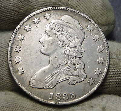 1835 Capped Bust Half Dollar 50 Cents - Nice Coin Free Shipping  (6223)