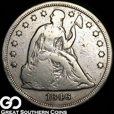 1846 Seated Liberty Dollar, Sought After Early Silver Dollar Type