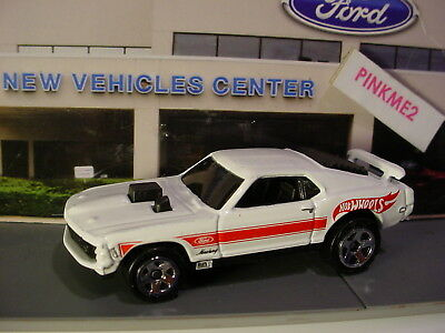 2018 Hot Wheels Multi Pack Exclusive MUSTANG MACH 1☆White;5sp;red stripe☆LOOSE☆