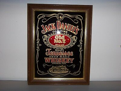 Vintage Jack Daniels Wall Picture Fair/carnival Prize Old No.7 Sour Mash Whiskey