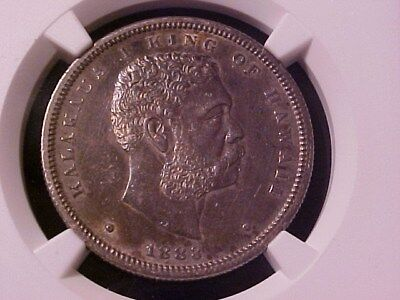 Kingdom Of Hawaii Half Dollar Silver 1883 Au Details Ngc (Cleaned) Looks Nice