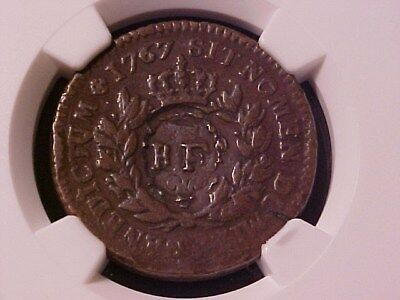 French Colonies 1 Sou 1767-A Rf Counterstamp Vf-20 Ngc