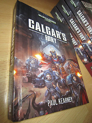 SIGNED Paul Kearney CALGAR'S FURY 1st/HB MINT Warhammer 40K Ultramarines Novel
