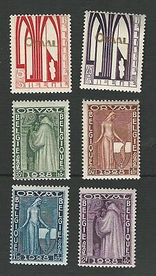 BELGIUM 1928. ORVAL ABBEY RESTORATION FUND SET OF 6 STAMPS TO 2Fr. MH. SG.461-6