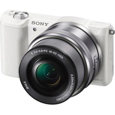 Sony Alpha a5100 Mirrorless with 16-50mm OSS Lens, White #ILCE-5100L/W